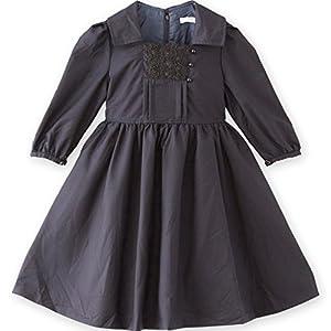 [キャサリンコテージ]子供服 女の子 入学式 卒業式 卒園式 スクエア襟ワンピースPC402OP 150cm ネイビー TAK