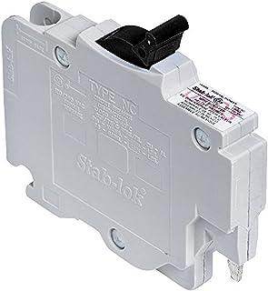Schneider Electric NC015CP Stab-lok (NC) Single Pole 15 Amp Plug-On Circuit Breaker, Ivory