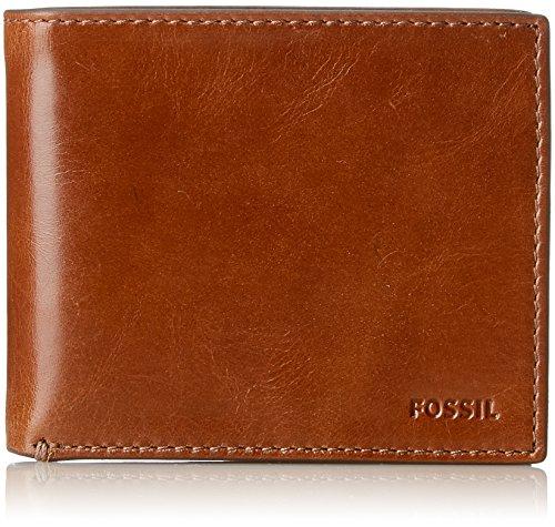 Fossil Herren Geldbörse– Hugh RFID Bifold, Braun (Brown), 9.5299999999999994x1.91x11.43 cm