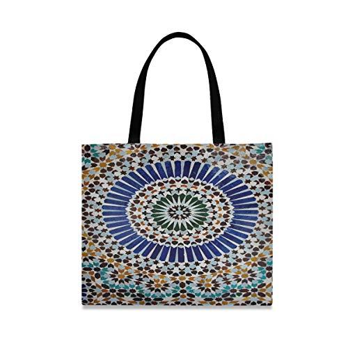 Große quadratische Kapazitäts-Mädchen-Umhängetasche Maghrebi Dreaming The Grand Mosque von Paris Jpg Einzigartige Handtaschen 19,7 x 16,9 Zoll Druck für Mädchen-Damen, die tägliche Arbeit ka
