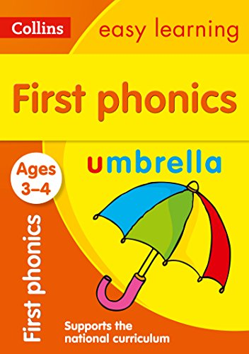 First Phonics Ages 3-4: Prepare for Preschool with easy home learning (Collins Easy Learning Preschool)