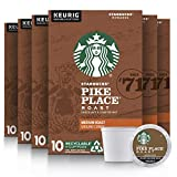 Starbucks Medium Roast K-Cup Coffee Pods  Pike Place Roast for Keurig Brewers  10 Count (Pack of 6)