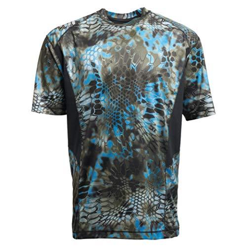 Kryptek Men's Standard Aura SS Shirt, Neptune/Black, L