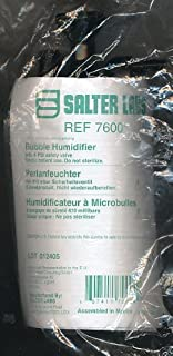 Salter Labs Bubble Humidifier, with 6 PSI - Safety Valve (REF 7600) 1-Unit Only, Latex Free (RX Edition)