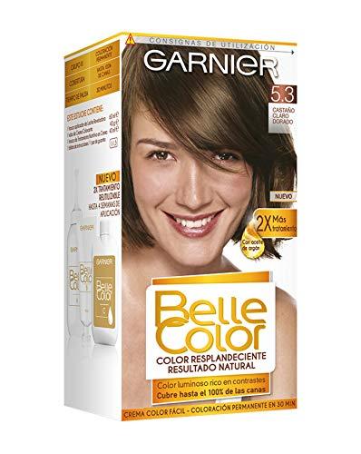 Garnier Belle Color Coloración de aspecto natural y cobertura completa de canas con aceite de germen de trigo - Castaño Claro Dorado 5.3