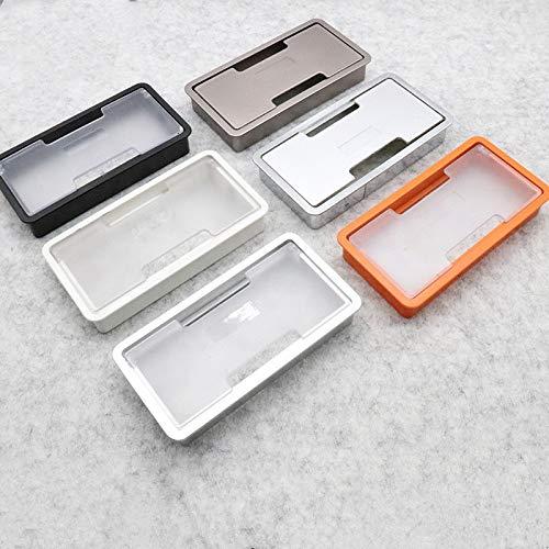 SPFOZ Haus Dekoration ABS-Schreibtisch-Kabel-Loch-Abdeckung transparenter Schreibtisch-Auslass-Fadenkasten-Halter-Schrank-Vent-Quadrat-Tischkabel-Büro-Hardware-Möbel (Color : Orange)