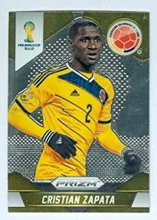 Cristian Zapata trading card (Colombia Milan Udinese Soccer) 2014 World Cup Prizm Chrome #48
