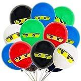 Globos Ninja, 50Pcs Globos Fiesta Cumpleaños Decoración Dibujos animados 12inch Globos de latex, Adecuado para jardín de infantes, familia, fiesta de cumpleaños interior