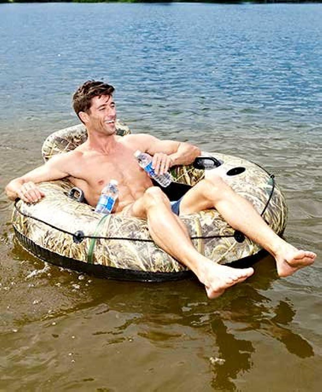 CAMO INFLATABLE RIVER LAKE TUBE HEAVY DUTY CUPHOLDERS