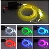 Iseebiz 0.75mm Luce a Fibra Ottica 150pcs * 2m LED RGBW 16W per Crea un Cielo Stellato con...