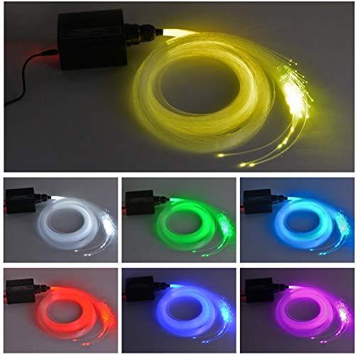Iseebiz 0.75mm Luce a Fibra Ottica 150pcs * 2m LED RGBW 16W per Crea un Cielo Stellato con Illuminazione a Fibre Ottiche Telecomando a Distanza 28 Tasti