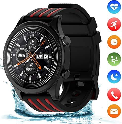 smartwatch pressione sanguigna jpantech Smartwatch Orologio Intelligente Impermeabile Pressione Sanguigna Monitor Cardiofrequenzimetro da Polso Bluetooth Smart Watch Schermo a Colori Impermeabile IP68 per Donna Uomo (Nero)