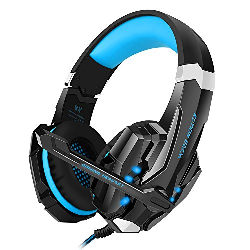 Bengoo Gaming Auriculares ps4 Profesional con Micrófono Cascos Gaming ps4 con 3.5mm PC Luz LED para PS4 Profesional /PC Ordenador/ Smartphone (Camuflaje)