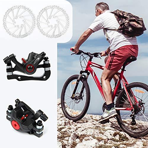 Yorbay Fahrrad Scheibenbremse Set, 160mm Scheiben und vorne hinten Bremse mit BB5 Bremsbeläge und Kabel (Schwarz) - 2