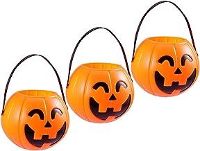 TOYANDONA 3Pcs Halloween Pompoen Snoep Emmer Halloween Snoep Snoep Mand/Tas/Emmer/Kom Container Ketel Pot Voor Party Gunsten