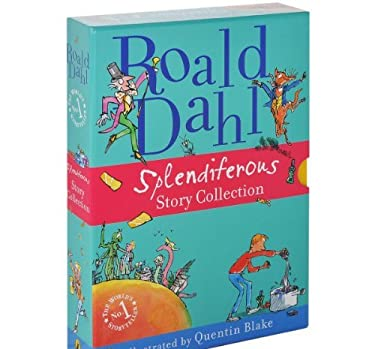 Roald Dahl Splendiferous Story Collection Boxed Set: 4 Books Full-Color Illustrations, James and the Giant Peach, Fantastic Mr. Fox, Charlie and the Chocolate Factory, George's Marvellous Medicine