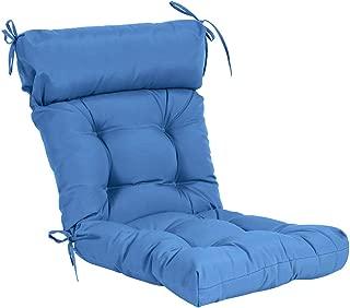 QILLOWAY Indoor/Outdoor High Back Chair Cushion,Spring/Summer Seasonal Replacement Cushions. (Marine Blue)