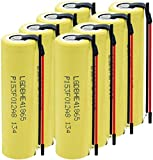 LqyKJas Lithium Ion Rechargeable Battery Cell for 18650 35A Li IonBattery 3.7V 2500Mah Rechargeable Lithium Battery for Flashlight 8Pcs