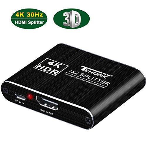 Tendak HDMI Splitter 1 auf 2 HDMI Splitter 4K HDMI Verteiler 1 auf 2 HDMI Audio Splitter 2 Way HDMI Splitter 2 Port HDMI Splitter 1 Input 2 Output für PS4 Blue-Ray Player Laptop