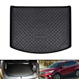 Aiqiying Cargo Liners,Black Heavy DutyRubber Waterproof Rear Cargo Tray Trunk Floor Mat Protector Compatible with 2013 2014 2015 2016 2017 2018 2019 Ford Escape