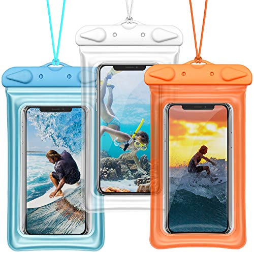 Waterproof Phone Pouch, BuyAgain Universal Floatable Waterproof Phone Case Underwater Dry Bag with Lanyard for iPhone Xs Max/XR/X/8/7 Plus Galaxy Pixel Up to 6.5