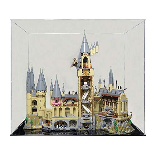 TONGJI Vitrina de Acrílico Compatible con Lego 71043 Harry Potter TM-Castillo de Hogwarts Vitrina A Prueba De Polvo (Modelo No Incluido)