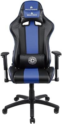 Bultaco BL-CH-101-BLUE Silla Gaming, PVC, Negra/Azul