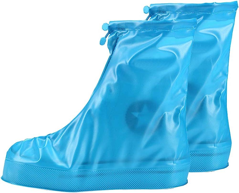 IUL Reusable Rain Boot Rain Shoe Covers Non Slip Waterproof Overshoes Foldable Galoshes Men//Women//Kids