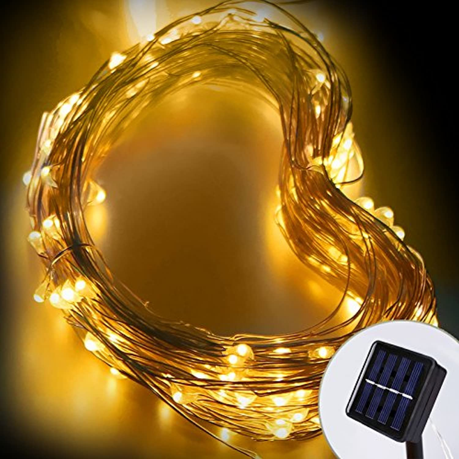 Warm White   LED String Light 100LEDs 10M Outdoor Solar Lamps Waterproof Lights Christmas Party Garden Decor String Lights