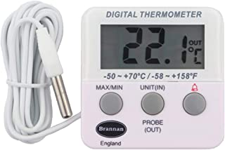 Digital Fridge Freezer Thermometer With Alarm and Max Min Refrigerator Temperature Feature