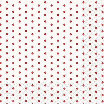 Unbekannt 20 Servietten wei/ß Muster Punkt