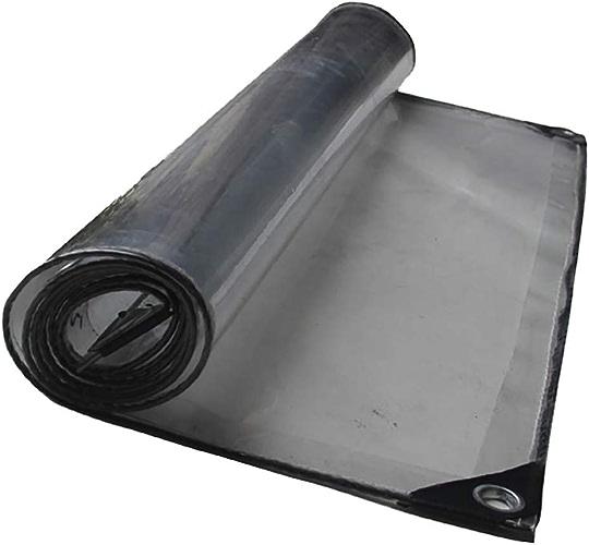 DLDL Bache Claire avec Oeillets Feuille imperméable à l'eau de Pluie résistante à la Pluie Feuille Isolante de Tente imperméable à l'eau Tente Plusieurs Tailles -420g   m2 (Taille   4×6)