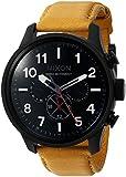 Nixon De los Hombres Tiempo Dual de Safari 'Swiss Quartz Reloj Casual de Cuero y Acero Inoxidable, Color: marrón (Modelo: a10822448–00)