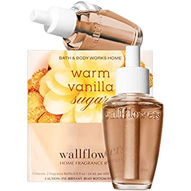 Bath and Body Works New Look! Warm Vanilla Sugar Wallflowers 2-Pack Refills