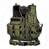Equipo táctico del ejército Chaleco Molle Militar Chaleco de Armadura de Caza Equipo de Airsoft Chaleco Protector de Combate de Paintball for Juego de Guerra CS Chaleco táctico