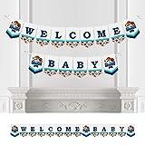 Big Dot of Happiness Go, Lucha, Gana - Deportes - Banderines de fiesta - Decoración de fiesta - Welcome Baby