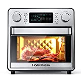 HomeRusso 24-in-1 Air Fryer Oven, Convection Toaster Oven with Rotisserie Dehydrator,1600W Countertop Oven with 5 Heating Elements, Regulate Temperature from 80°F to 450°F