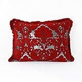 Casa Moro Marokkanische Sofakissen Nadia-Rot 70x55 cm | Kissen-Bezug aus Marokko | Zierkissen...
