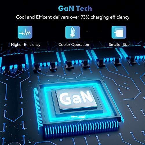 SPLAKS 100W USB C Ladegerät GaN Tech Power Delivery 2-Port Typ C für MacBook Pro/Air,iPad Pro/Air,iPhone 12/12 Pro/12 Mini/11/11 Pro/XR/XS Max,Nintendo Switch,PD-Ladene Geräte-Schwarz