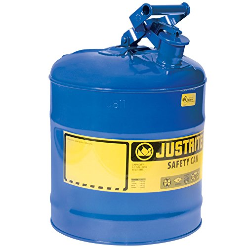 Justrite 10810 Type 1 Safety Can for Kerosene Blue 5 Gallon