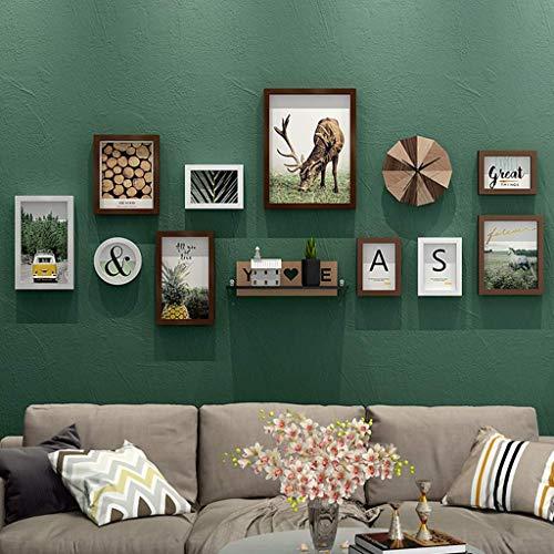 CAIJINJIN marco de fotos Marco de la foto de la pared - pared del sofá - Marco de fotos Wall Set - pared del marco del reloj de pared - Galería Suite - 10 capítulos de la foto de la pared - Estructura