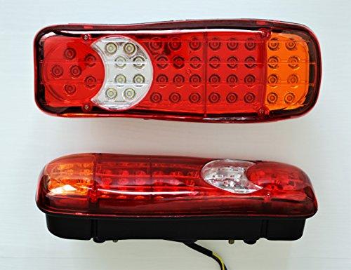 2x LED arrière Stop Tail Indicateur inverse brouillard Lampes 24V pour camion remorque Bus Camper benne camping-car lamps