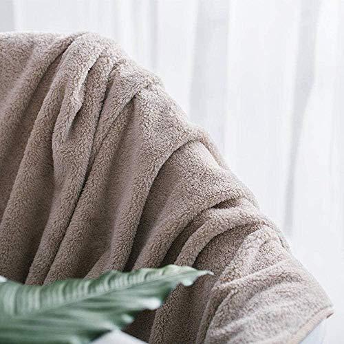 LIGUANGWEN Conjunto De Toalla De Toalla De Baño Coral Fleece Plus Toalla De Baño Hogar Rápido Secado Absorbente Microfibra Playa Toalla Dailiar Necesidades Diarias Toalla De Baño 90 Cm * 180 Cm