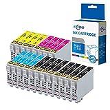 ECSC Compatibile inchiostro Cartuccia Sostituzione per Epson WF-2010W WF-2510WF WF-2520NF WF-2530WF WF-2540WF WF-2630WF WF-2650DWF WF-2660DWF WF-2760 (Nero/Ciano/Magenta/Giallo, 20-Pack)