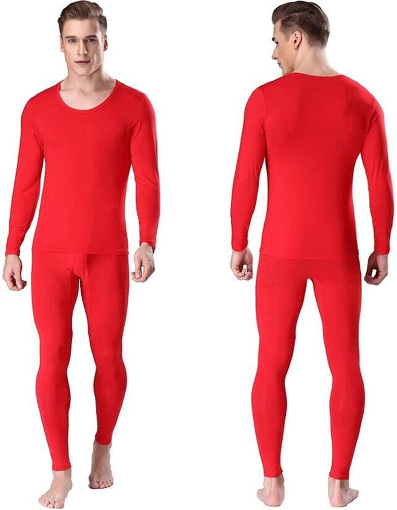 GPPZM Men's Underwear O Neck Thin Thermal Long Underpants and Undershirts Size L to 6XL (Color : C, Size : 6XL Code)