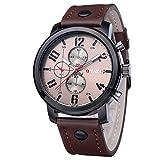 Cinturón de Hombre Reloj de Cuarzo_Ebay Taobao Orjos Ver cinturón de Tres Ojos@Marrón