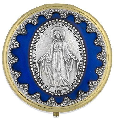 Venerare 60mm Immaculate Conception PYX (Blue Enamel)
