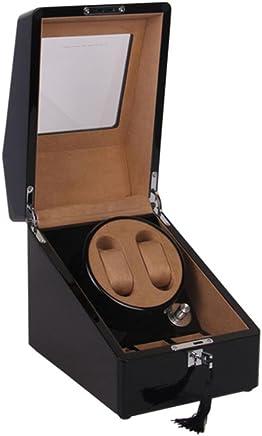 SHISHANG Schwarz Klavierlack Automatische Rotierende Uhrenbox Auto-wicklung 2  3 Uhrenbox Motor Box B078SNGWJX     | Professionelles Design