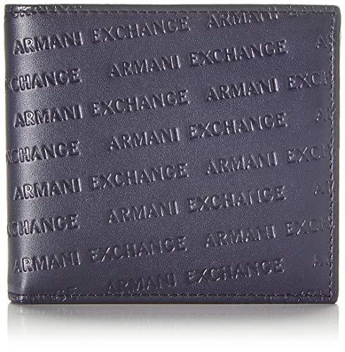 Armani Exchange Herren Bifold W/Coin Pocket Geldbörse Blau (Navy - Navy)