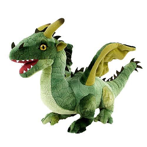 Teddys Rothenburg Plüschtier Drache grün 40 cm kuschelweich Stoffdrache Kuscheltier grüner Drache Spielzeug Plüsch